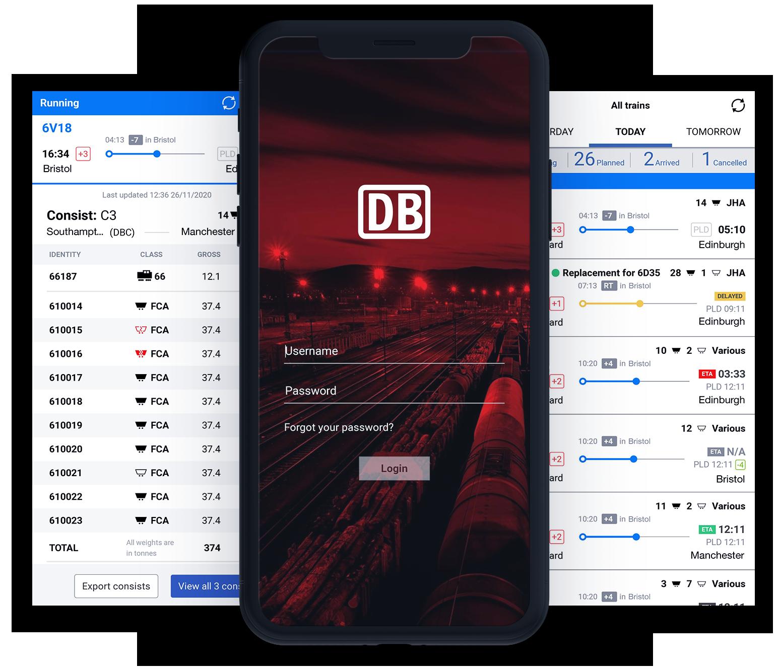 DB Cargo_Mobile Mockup